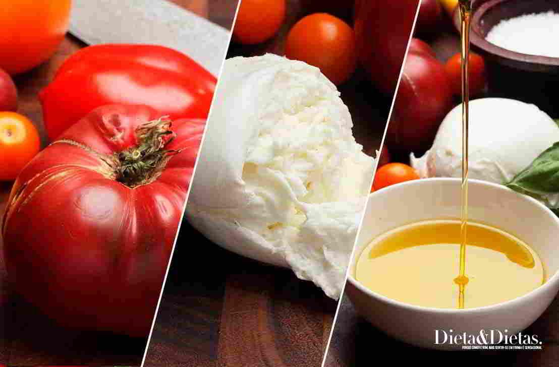 acerte nos ingredientes da Salada Caprese