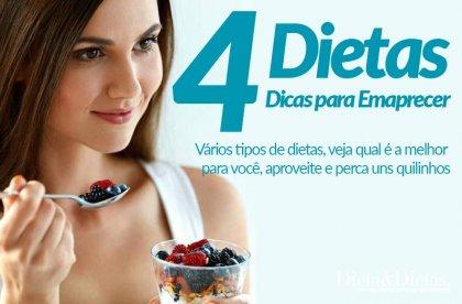 4 Dietas para Emagrecer Rápido e Secar a Barriga