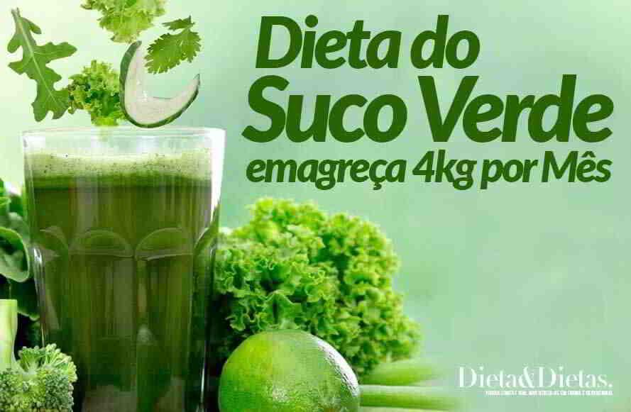 Dieta do Suco Verde, Emagreça 4kg por Mês e Seque a Barriga