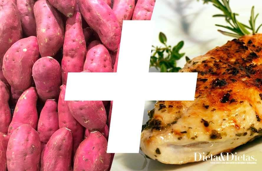 Batata doce com frango para ganhar massa magra