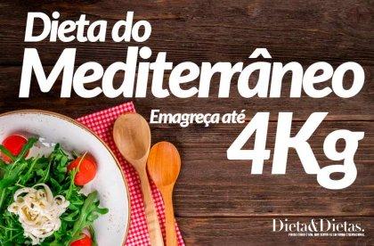 Dieta do Mediterrâneo, Emagreça até 4Kg com uma Alimentação saudável