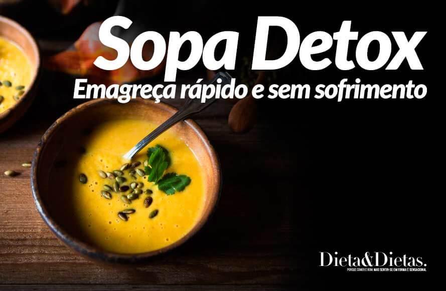 Sopa Detox, Emagreça Rápido e sem Sofrimento, adicione a sua Dieta