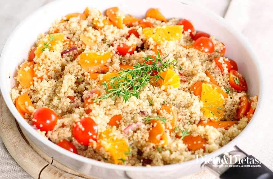receita de salada com quinoa
