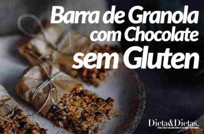 Barra de Granola com Chocolate sem Gluten