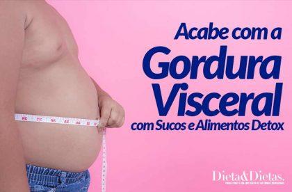 Acabe com a Gordura Visceral com Sucos e Alimentos Detox