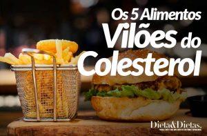 Os 5 Alimentos que são os Vilões do Colesterol