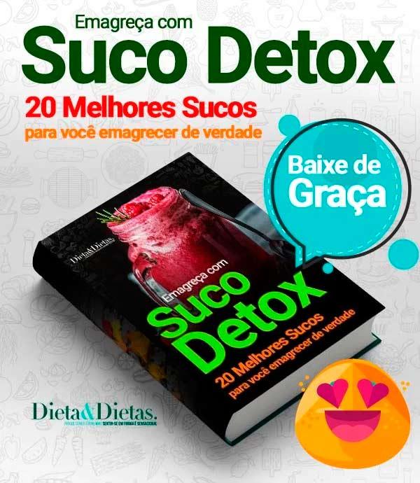 E-Book com 20 receitas de suco detox
