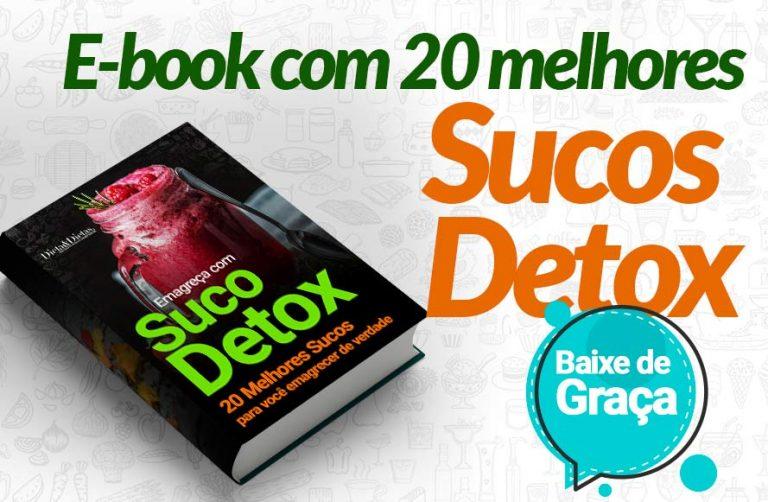 E-Book com 20 Melhores Sucos Detox