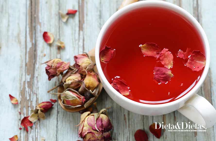 Chá de hibisco que seca barriga