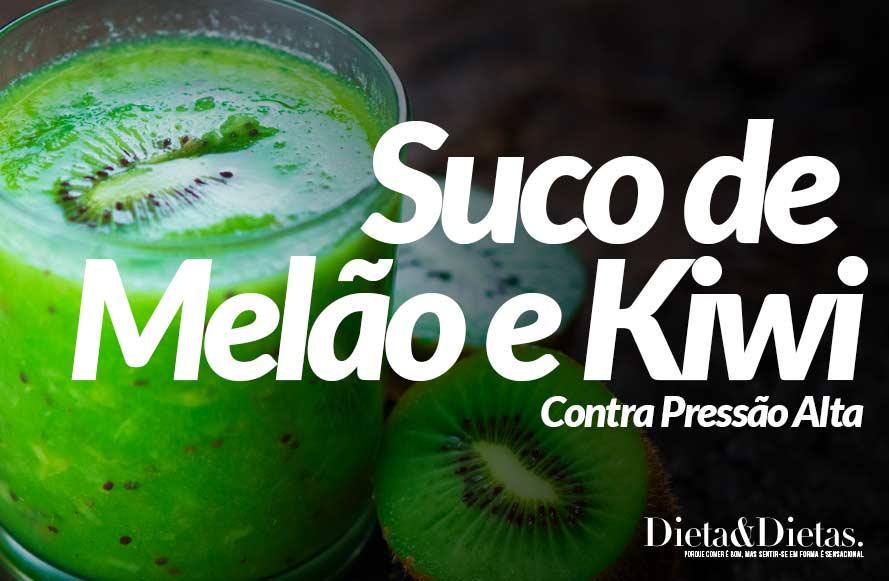 Suco de Melão e Kiwi Contra Pressão Alta