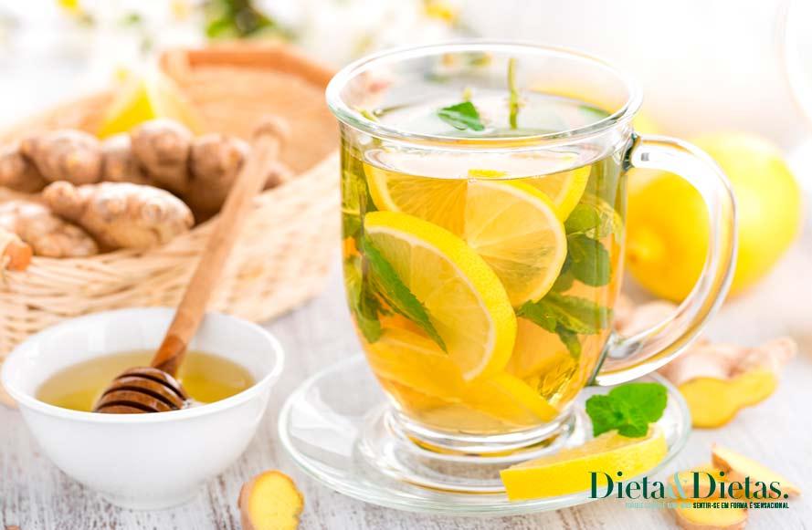 Tabela nutricional do chá Branco