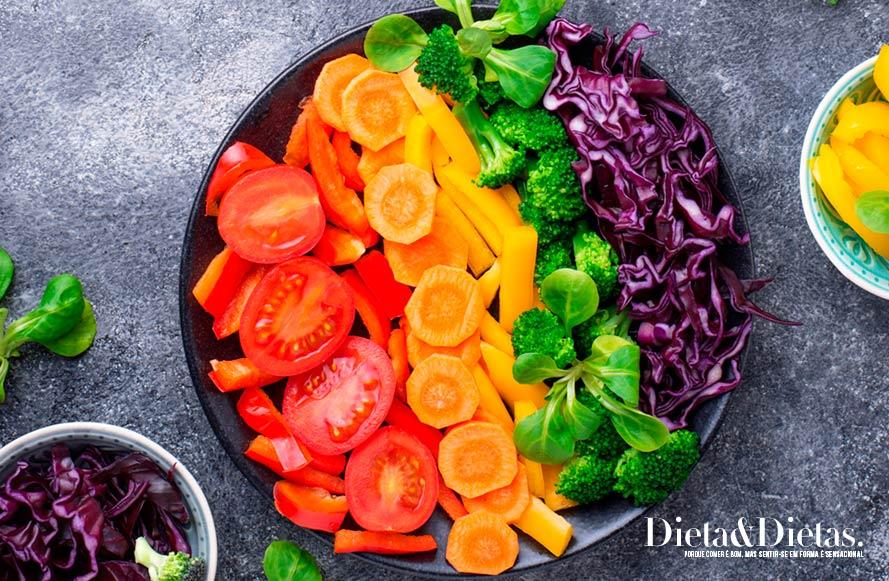 Cardápio da dieta do arco íris