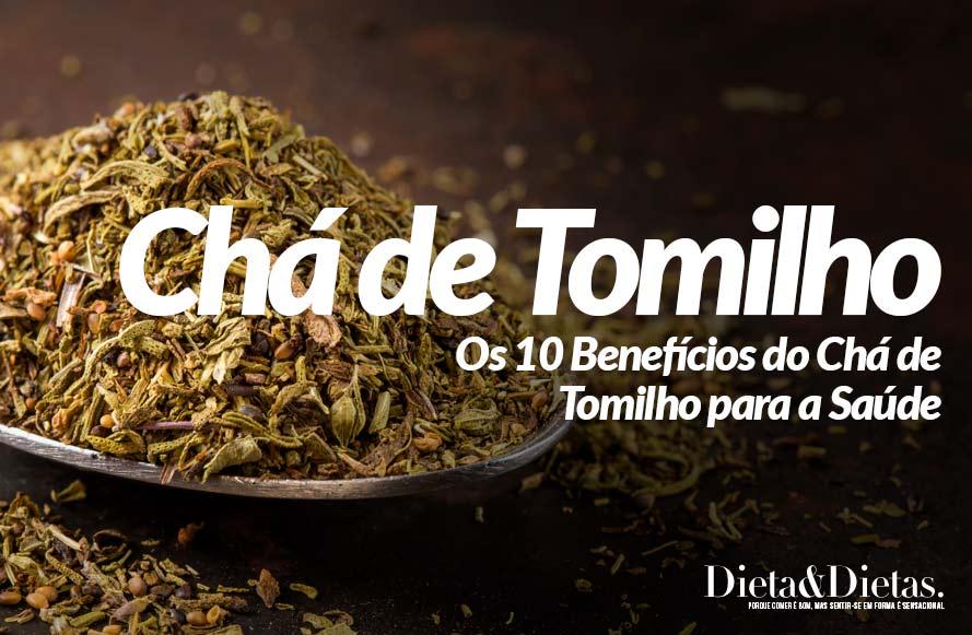 benefícios do chá de tomilho para a saúde