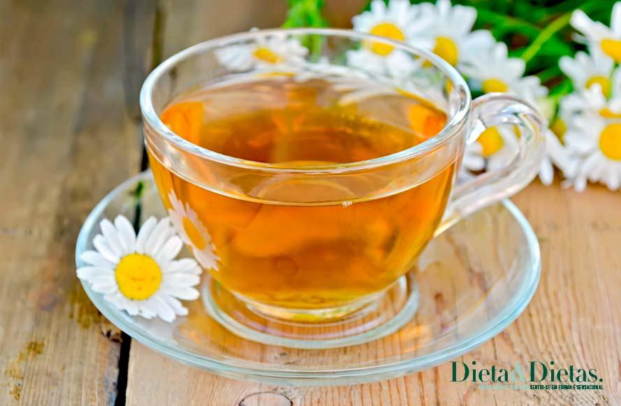 chá de camomila Relaxa os músculo