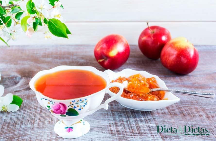 chá de maçã acaba com o Combate os radicais livres