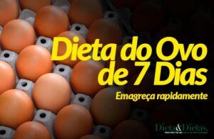 Dieta do Ovo 7 Dias