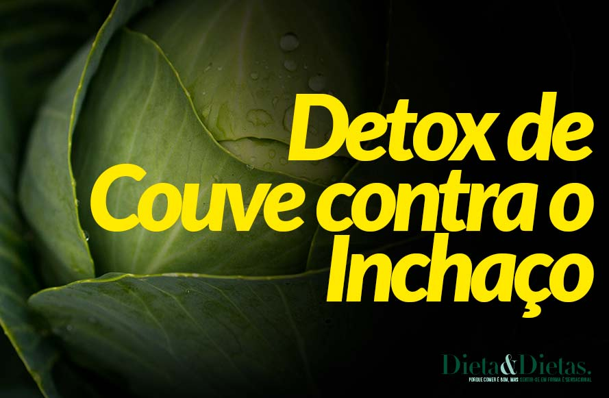 Suco detox de couve para tirar o inchaço do corpo